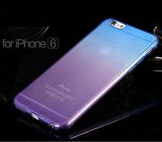 NEW Ombre Silicone/Gel/Rubber Clear Case Cover Skin For iphone 6 6Plus