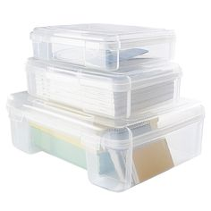 I love organizing! (Clear Document Cases are made of clear polypropylene for easy identification of the contents. They feature sturdy hinges for a lifetime of carefree use and snap-lock closures for security.)