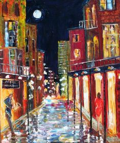 Commission your own New Orleans Cityscape Original Oil by Karensfineart