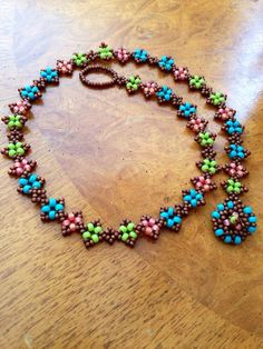 Feel free to dream up your favorite color combination for my boho chic hippie choker!  Coloful Boho beadwoven necklace, turquoise necklace, colorful necklace, beadwoven collar, turquoise necklace,   60's hippie necklace EBW