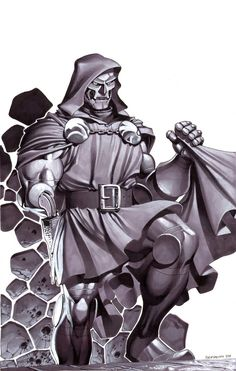 Doctor Doom- Marker Illo by *chriss2d