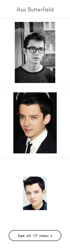 """""""Asa Butterfield"""" by fashion-nova ❤ liked on Polyvore featuring people, guys and asa butterfield"""