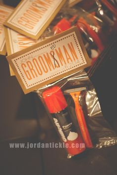 """The best way to ask your groomsmen to be in your wedding. Razor and shaving cream. """"groomed man"""" www.jordantickle.com"""