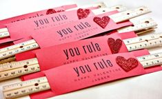 You Rule. Valentine's Day teacher gift idea, or a very useful gift from the teacher to the students.