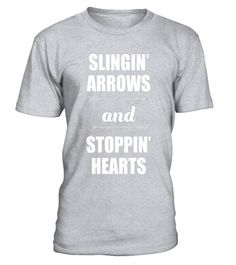 """# Slingin' Arrows and Stoppin' Hearts Sporty T-Shirt - Limited Edition . Special Offer, not available in shops Comes in a variety of styles and colours Buy yours now before it is too late! Secured payment via Visa / Mastercard / Amex / PayPal How to place an order Choose the model from the drop-down menu Click on """"Buy it now"""" Choose the size and the quantity Add your delivery address and bank details And that's it! Tags: When you're slingi"""