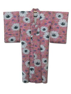 ☆ New Arrival☆ 'Spring Surprise' #womens #pink #silk blend #vintage #Japanese #kimono with pretty #floral pattern from #FujiKimono http://www.fujikimono.co.uk/fabric-japanese/spring-surprise.html