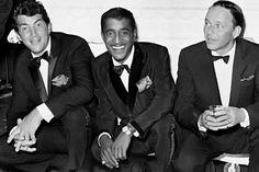 Dean Martin, Frank Sinatra and Sammy Davis Jr...