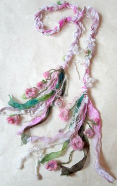 scarf enchanted forest fiber braid