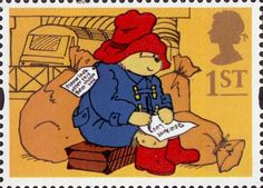 Royal Mail 1st Class Postage Stamp from 1994 featuring Paddington Bear at Paddington Station