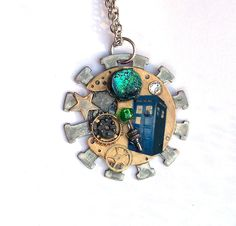 Doctor Who Necklace Intergalactic Transfer by TimeMachineJewelry, $32.00