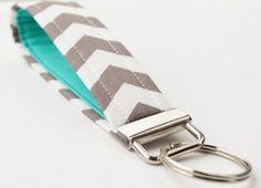 Handmade Chevron Key Chain Fabric Key Fob by BrooklynLoveDesigns, $8.00