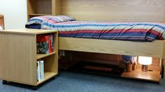 These fit snugly beneath your StudyBed and can be quickly wheeled away to become a bedside table