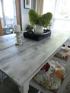 97d33baeb8d5 The Best distressed white wood dining table Graphics