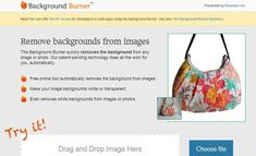 Background Burner es una utilidad web gratuita para eliminar el fondo de imágenes y fotos. Podemos obtener imágenes con fondo blanco o transparente.