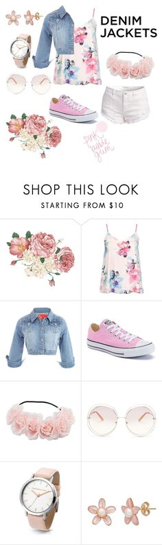 """""""Sans titre #30"""" by emmaa25 ❤ liked on Polyvore featuring Dorothy Perkins, Converse, Chloé, denimjackets and WardrobeStaples"""