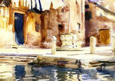 Campo San Boldo, Venice (John Singer Sargent - circa 1902-1904)