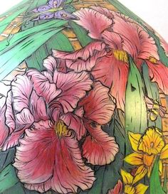gourd art Site has info about using colored pencils on gourds