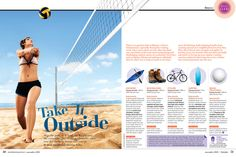Great spreads from 'Australian Prevention' a health magazine aimed at women over 40