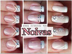 3 UNHAS DECORADAS PARA NOIVAS (Fácil de Fazer)  - 3 Nails Art For Brides...