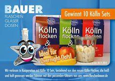 #Gewinnspiel bei #Flaschenbauer in Kooperation mit Kölln-Flocken. Gewinnt jetzt 10 Sets für #Overnight #Oats #overnightoats bestehend aus Kölln-Flocken und den passenden Gläsern von www.flaschenbauer.de Macht mit!   Jetzt auf Facebook: https://www.facebook.com/flaschenbauer/