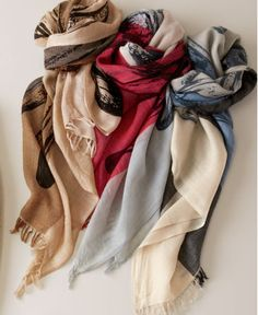 Women's sweaters and scarves