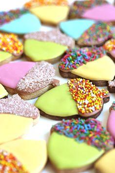 Sprinkle Acorn Cookies | Oh Happy Day!