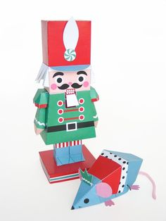 Nutcracker and Mouse King Holiday Toys Printable Paper Craft  PDF. $4.00, via Etsy.