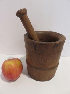 Ebay: Antique mortar & pestle.