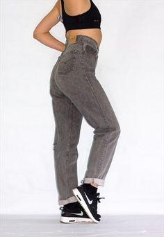 Vintage+Distressed+901+High+Waist+Grey+Levi's+Jeans+