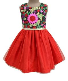 Look what I found on #zulily! Red Fusion Blossom Tulle Dress - Infant, Toddler & Girls #zulilyfinds