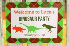 free printable dinosaur 1st birthday party ideas - Google Search @Kristina Brady