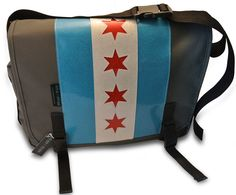 Chicago Flag Messenger Bag Albany $125   www.shopsinkorswim.com