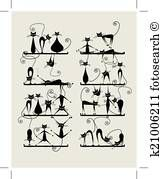 Buy Black Cats on Shelves by Kudryashka on GraphicRiver. Funny black cats on shelves for your design, vector illustration Cat Drawing, Line Drawing, Contour Drawing, Animal Gato, Black Silhouette, Cat Silhouette Tattoos, Cat Tattoo, Letter Art, Paint Designs