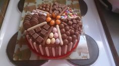 Multi chocolate birthday cake