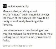 """Ya """"natural"""" my ass, if you like natural then why do y'all hate 'female' leg hair & 'fishy' vaginas smh"""