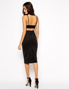 Oh My Love Midi Body-Conscious Dress with Cut Out Back