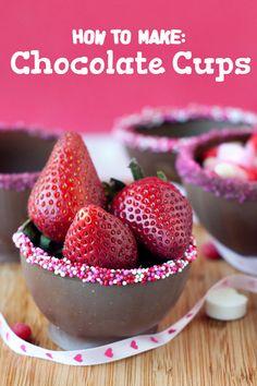 How to Make Chocolate Cups | heatherlikesfood.com