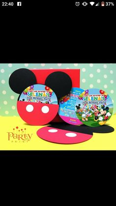 First Birthday Parties, First Birthdays, You Are Invited, Invitations, Party, Poster, Fiesta Mickey, One Year Birthday, Parties