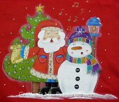 Coisas da Nil - Pintura em tecido: Cantiga de Natal...