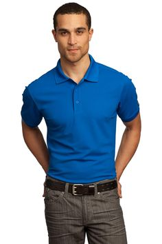 129d121b Accelerate beyond the limits in this high-performance polo that pays  tribute to your favorite jeans with its rounded bartacked placket. poly  pique with ...