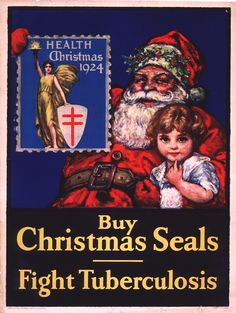 1924 National Tuberculosis Association Christmas Seal Campaign Poster
