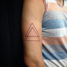 40 Unique Triangle Tattoo Meaning and Designs - Sacred Geometry                                                                                                                                                      More