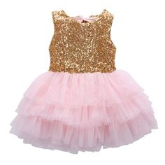 2caff0ab7 summer dress baby girl sequins dress bow lace tulle cake sleeveless dress  gown formal back big