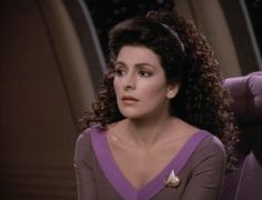Deanna Troi from Star Trek TNG.  I know it's a wig, but - I LOVE her hair.