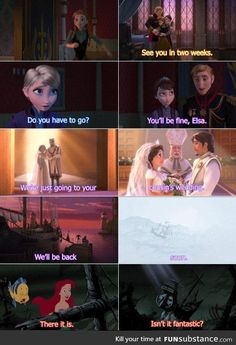 Gotta love Disney and their subtle (or not-so-subtle) interweaving of their movies mind = blown mind = blown. Gotta love Disney and their subtle (or not-so-subtle) interweaving of their movies Heros Disney, Disney Marvel, Punk Disney, Creepy Disney, Ursula Disney, Disney Ships, Chisme Meme, Funny Memes, Funny Facts