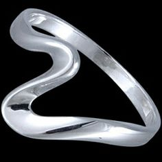 Silver ring, wave Silver ring, Ag 925/1000 - sterling silver. There is beauty in simplicity – very popular ring.