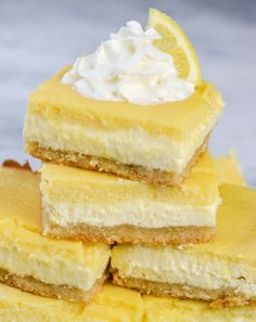 You will love these Keto Lemon Cheesecake Bars! With three layers including a sweet shortbread crust, lemon cheesecake and a smooth lemon bar layer these are the ultimate citrus dessert! Lemon Cheesecake Bars, Lemon Bars, Keto Dessert Easy, Dessert Recipes, Recipes Dinner, Lunch Recipes, Sweet Recipes, Low Carb Desserts, Low Carb Recipes