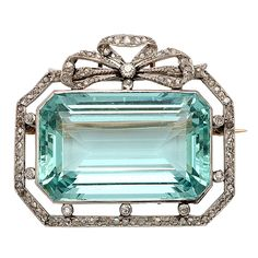 Stunning Edwardian Pendant/Brooch. Platinum top & 14kt Gold Back with Russian Hallmarks. Pin fittings remove to be worn on a chain. Combination of old mine Diamonds & Rose Diamonds. All original. Probably made by a French jeweler working in Russia. Circa 1910