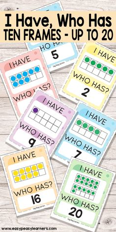 Learning 10 Frames through I Have Who Has card game || easypeasylearners.com