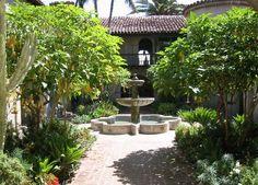 el cabrillo - courtyard fountain